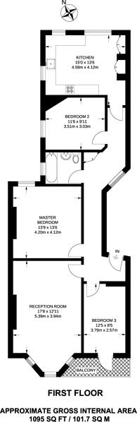 Large floorplan for Castellain Mansions, Maida Vale, W9