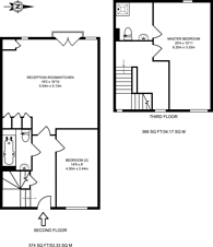 Large floorplan for Cowley Road, Acton, W3