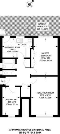 Large floorplan for Lovelace Road, Surbiton, KT6