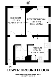 Large floorplan for Luxborough Street, Marylebone, W1U