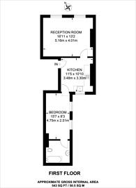 Large floorplan for Shouldham Street, Marylebone, W1H