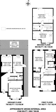 Large floorplan for Bellingham Road, Catford, SE6