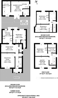 Large floorplan for May Gardens, Perivale, HA0