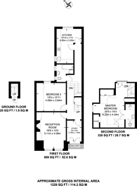 Large floorplan for Westbere Road, Cricklewood, NW2