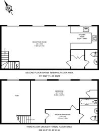 Large floorplan for Beaux Arts Building, Upper Holloway, N7