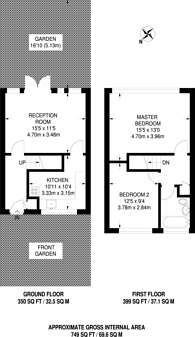 Large floorplan for Underwood Court, Leyton, E10