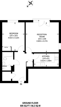 Large floorplan for Island Apartments, Angel, N1