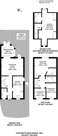 Large floorplan for Orchard Avenue, Shirley, CR0