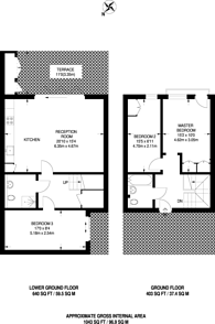 Large floorplan for Brompton Mews, North Finchley, N12