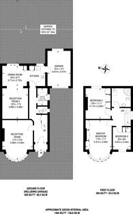 Large floorplan for Randall Avenue, Dollis Hill, NW2