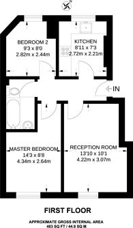 Large floorplan for Gibson Gardens, Stoke Newington, N16