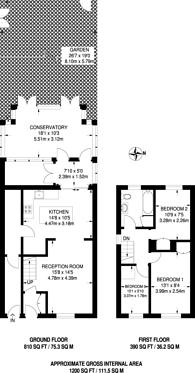 Large floorplan for Kennard Street, Docklands, E16