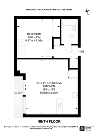 Large floorplan for Cornell Square, Stockwell, SW8