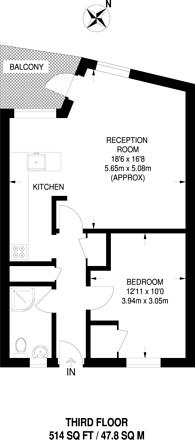 Large floorplan for Ellery House, Elephant and Castle, SE17