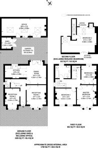 Large floorplan for Kingsley Avenue, West Ealing, W13