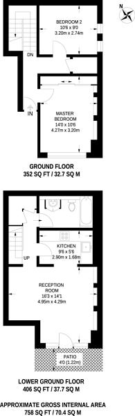 Large floorplan for Wandsworth Bridge Road, Fulham Broadway, SW6