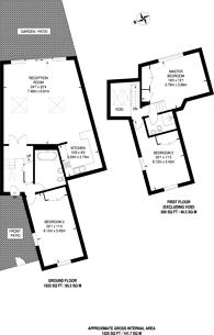 Large floorplan for Hoop Lane, Golders Green, NW11