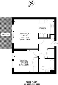 Large floorplan for Knaresborough Drive, Earlsfield, SW18
