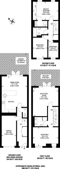 Large floorplan for Snowberry Close, High Barnet, EN5
