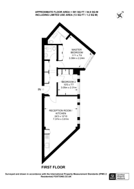 Large floorplan for Cheltenham Terrace, Chelsea, SW3