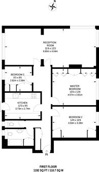Large floorplan for Richmond Hill, Richmond Hill, TW10