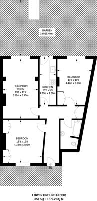 Large floorplan for Richmond Crescent, Barnsbury, N1
