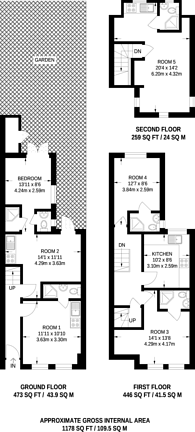 Large floorplan for Lymington Avenue, Wood Green, N22