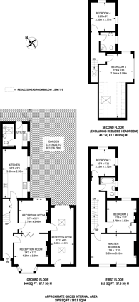 Large floorplan for Melford Road, East Dulwich, SE22