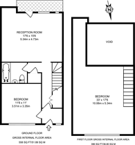 Large floorplan for Benyon Wharf, Haggerston, E8