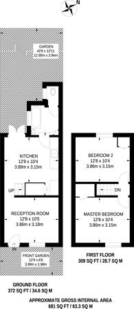 Large floorplan for Union Road, Croydon, CR0