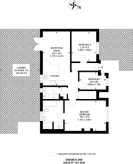 Large floorplan for Oakworth Road, North Kensington, W10