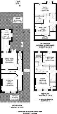 Large floorplan for Ravenslea Road, Nightingale Triangle, SW12