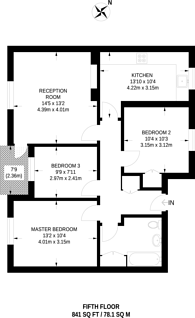 Large floorplan for Osbaldeston Road, Stamford Hill, N16