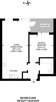 Large floorplan for Ellis House, Ealing, UB2
