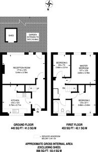 Large floorplan for Davenport Road, Catford, SE6