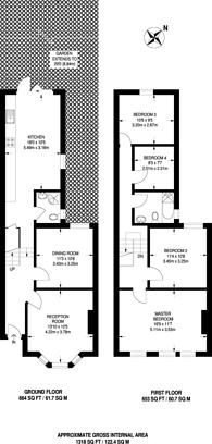 Large floorplan for Farley Road, Catford, SE6