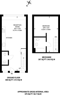 Large floorplan for Severn Court, Westferry, E14