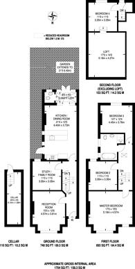Large floorplan for Kingscourt Road, Streatham Hill, SW16