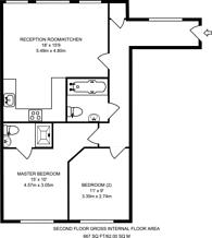 Large floorplan for North Road, Maybury, GU21