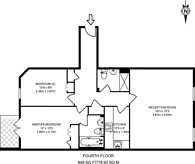 Large floorplan for Clarendon Court, Maida Vale, W9