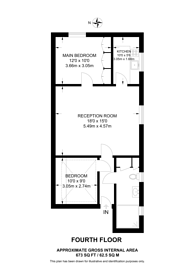 Large floorplan for Queens Gate, South Kensington, SW7