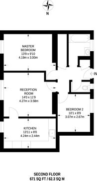 Large floorplan for Harmood St, Chalk Farm, NW1