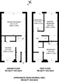 Large floorplan for Avening Terrace, Southfields, SW18