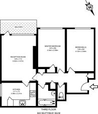 Large floorplan for Casterbridge Road, Blackheath, SE3