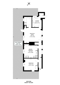Large floorplan for Euston Road, Fitzrovia, NW1