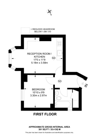 Large floorplan for Canonbie Road, Forest Hill, SE23
