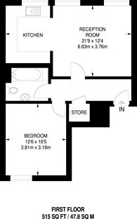 Large floorplan for Berry Street, Clerkenwell, EC1V
