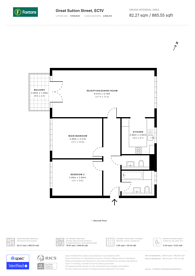 Large floorplan for Great Sutton Street, City, EC1V