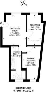 Large floorplan for Martlett Court, Covent Garden, WC2B