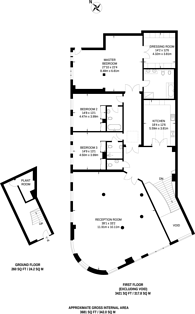 Large floorplan for Northumberland Avenue, Charing Cross, WC2N